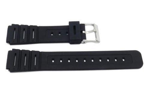 Timex 18mm Black Rubber Performance Sport Watch Band