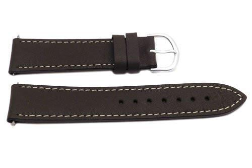 Timex Brown Calfskin Leather 20mm Watch Band