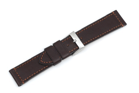Swiss Army AirBoss Extra Large Brown Leather Watch Strap