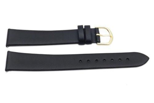 Timex Black Calfskin Leather 18mm Long Watch Band