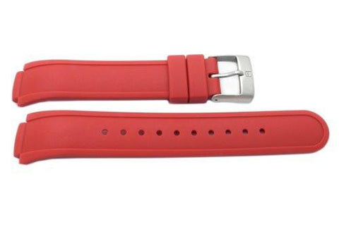 Swiss Army Red Silicone Base Camp 13mm Watch Strap