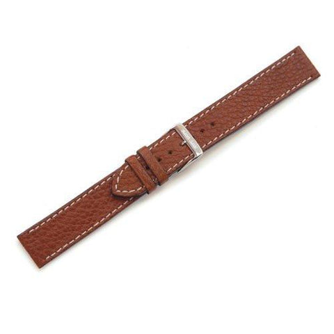 Swiss Army Large Brown Leather Long Watch Strap