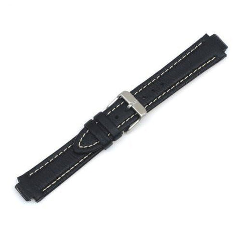Swiss Army 12/19mm Black Leather Watch Strap