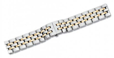 Swiss Army 15mm Alliance Dual Tone Stainless Steel Watch Bracelet