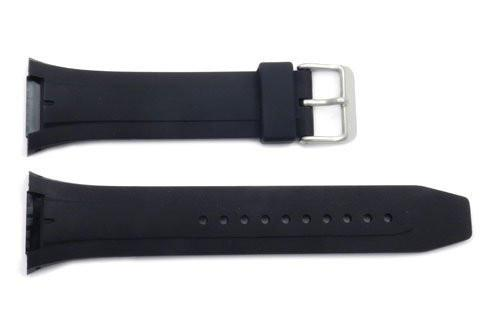 Pulsar Black Rubber Tapered Edge 28mm Watch Strap