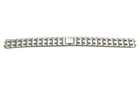 Pulsar Dual Tone Stainless Steel Buckle Clasp 12mm Watch Bracelet