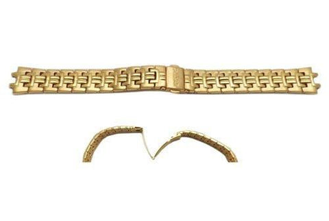 Pulsar Gold Tone Stainless Steel Push Button Clasp 16mm Watch Bracelet