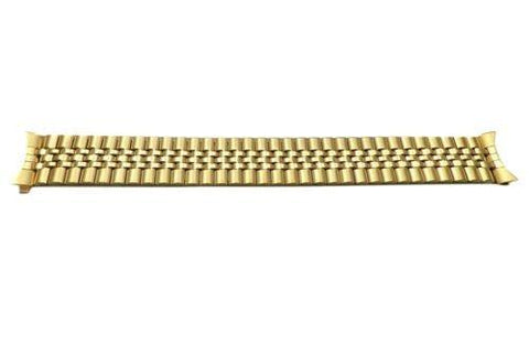 Pulsar Gold Tone Stainless Steel Elastic 18mm Watch Bracelet