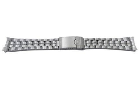 Pulsar Silver Tone Stainless Steel Solar Sport Fold-Over Clasp 20mm Watch Bracelet