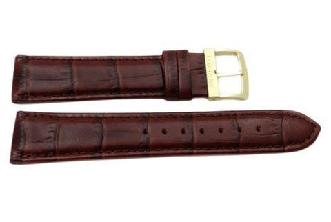 Citizen Genuine Brown Textured Leather Alligator Grain 20mm Eco-Drive Watch Strap