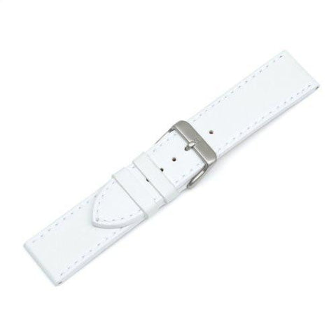 Swiss Army White Leather Chrono Classic 21mm Watch Strap