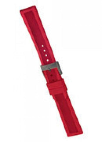 Genuine Swiss Army 22mm Dive Master 500 Red Rubber Strap