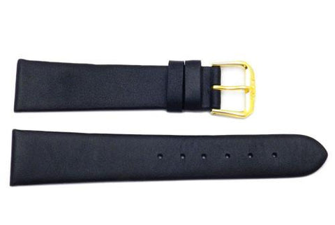 Flat Smooth Genuine Calf Leather Watch Strap