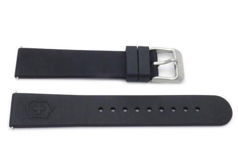 Genuine Swiss Army Black Rubber 17mm Maverick II Series Watch Strap