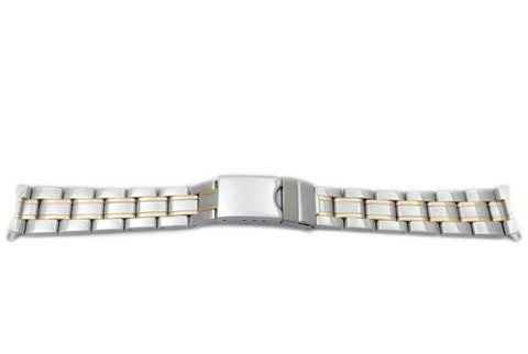 Swiss Army Dual Tone 16mm Stainless Steel Officer's Series Watch Bracelet