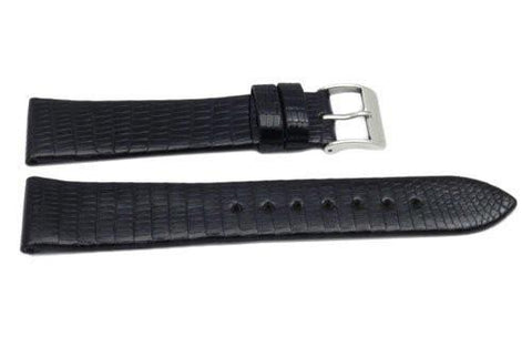 Genuine Lizard Gloss Finish Flat Watch Band
