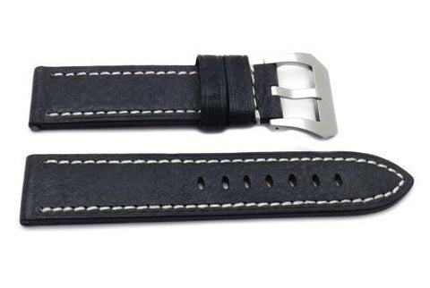 Genuine Textured Leather Anti-Allergic Black Panerai Watch Band
