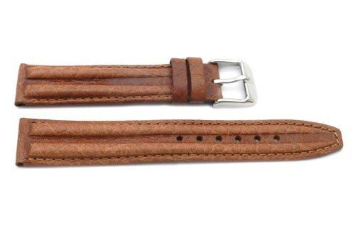 Genuine Textured Sport Leather Anti-Allergic Light Brown Watch Strap