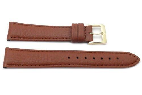 Genuine Textured Leather Anti-Allergic Camel Watch Strap