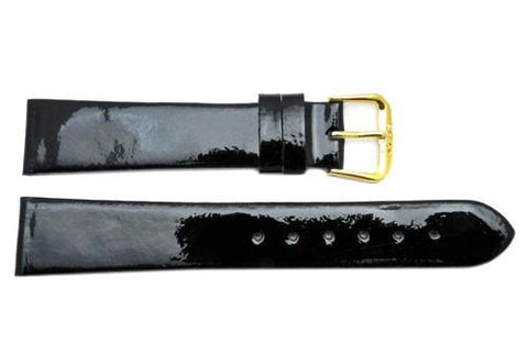 Ladies Glossy Finish Genuine Calfskin Leather Watch Strap