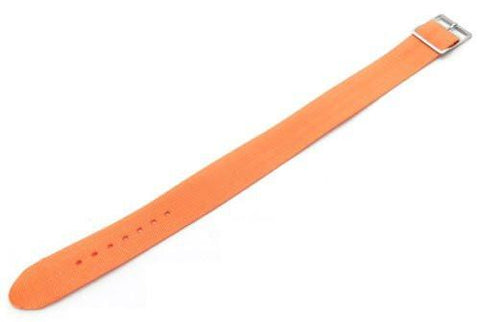 Orange Nylon B-5101 18mm Watch Strap
