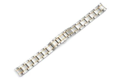 Genuine Swiss Army Brushed/Polished Dual Tone Steel Bracelet Officers Series
