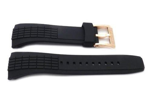 Seiko Black Rubber Velatura Kinetic Mens 26mm Watch Strap