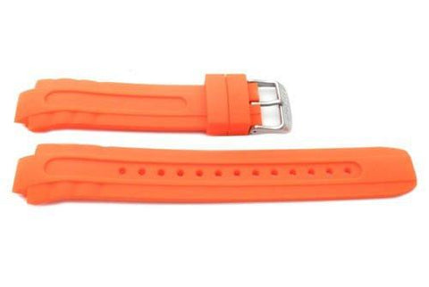 Citizen Orange Rubber Eco-Drive Pro Diver 14mm Long Watch Band