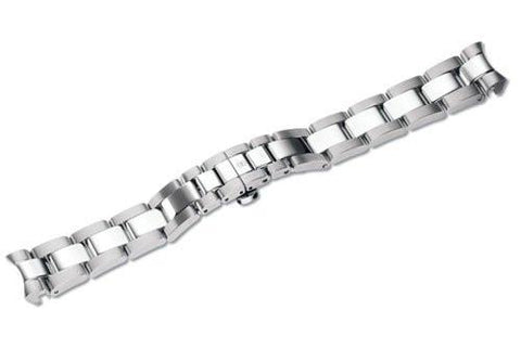 Genuine Swiss Army Alliance Sport Medium Satin/Polished Stainless Steel Bracelet