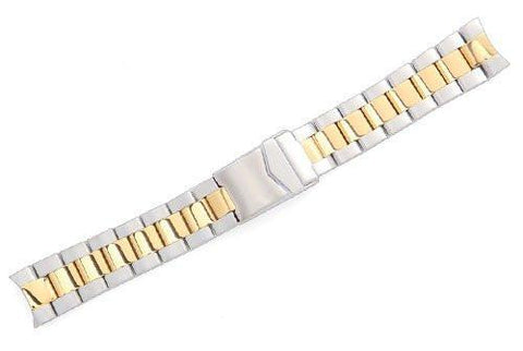 Genuine Swiss Army Steel Dual Tone Bracelet with Solid End Piece