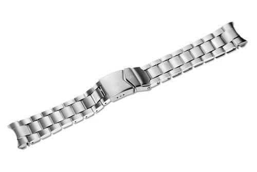 Genuine Swiss Army Infantry Vintage Extra Large 20mm Satin/Polished Stainless Steel Bracelet
