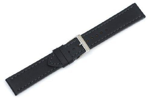 Genuine Swiss Army Alliance Large Black Leather Strap