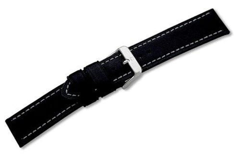 Genuine Swiss Army Alpnach Large Black Leather Strap