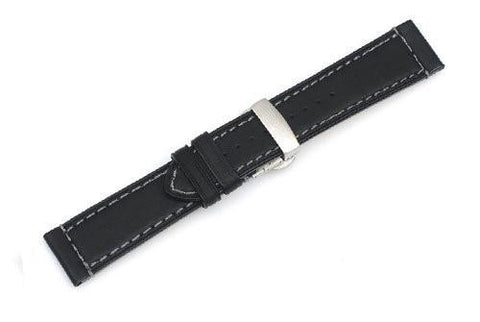 Genuine Swiss Army AirBoss Large Black Leather Strap