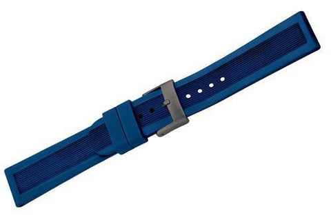 Genuine Swiss Army Genuine Rubber Blue Strap