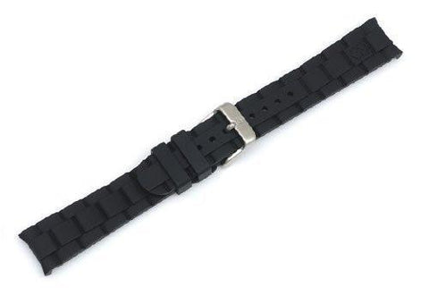 Genuine Swiss Army Maverick Small 18mm Black Rubber Strap