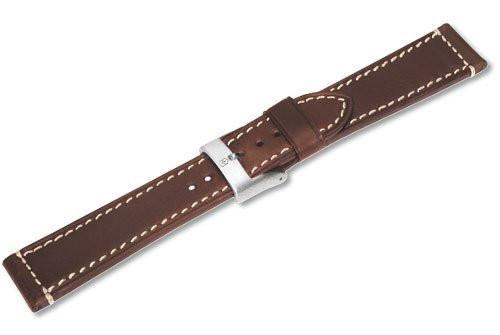 Genuine Swiss Army AirBoss Large Brown Leather Strap