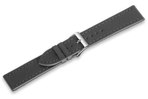 Genuine Swiss Army Anthracite Leather Infantry Vintage Auto Strap