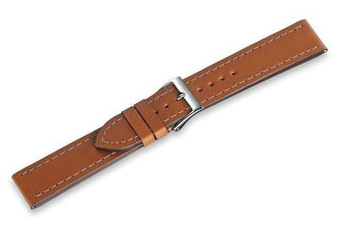 Genuine Swiss Army Brown Leather Strap For Infantry Vintage Auto