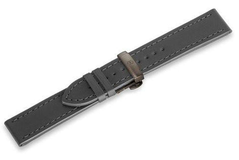 Genuine Swiss Army Anthracite Leather Strap