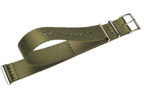 Genuine Swiss Army Large 20mm Green Nylon Nato Style Watch Strap