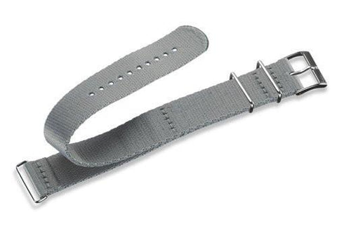 Genuine Swiss Army Large Grey Nylon •À_NATO•À_ Style Watch Strap