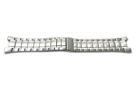Seiko Stainless Steel Push Button Fold-Over Clasp 24mm Coutura Kinetic Watch Bracelet