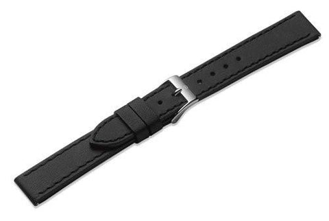 Genuine Swiss Army Alliance Small Width Black Leather Strap