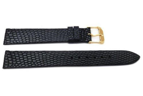 Genuine Movado 16mm Black Genuine Tropic Lizard Watch Strap