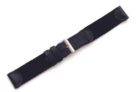 Genuine Swiss Army Large Black Nylon & Leather Strap