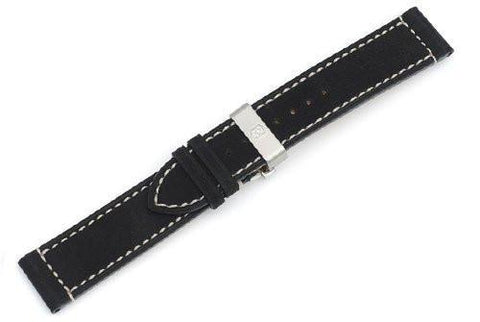 Genuine Swiss Army ChronoPro Large Black Leather Strap