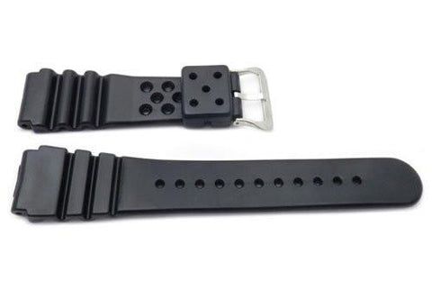 Black Smooth Plastic Watch Band