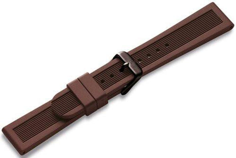 Genuine Swiss Army Large Dark Brown Rubber Strap- Dive Master 500 Auto