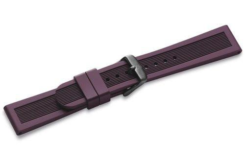 Genuine Swiss Army Mid-Size Purple Rubber Strap for Dive Master 500